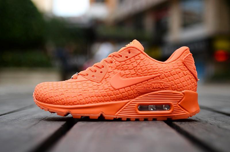 Billig Nike Air Max 90 City Göttin orange rotdamen Trainer