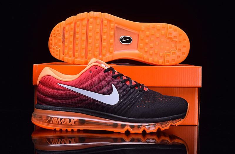 Nike Air Max 2017 Trainer schwarz orange für Herren zum Sale