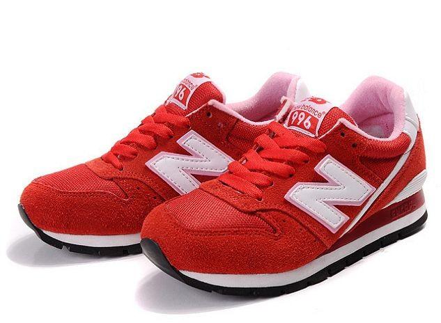 billig New Balance 996 rot, weiß Trainer schuhe der damen de