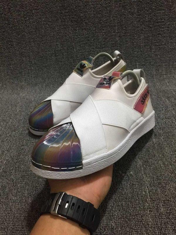 Slip Für Auf Trainer Adidas Superstar Regenbogenfarben Schuhe Weiß De qMzSpUVG