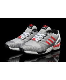 Adidas ZX FLUX-Gewebe für Herren gainsboro / silbergrau / rot Trainer