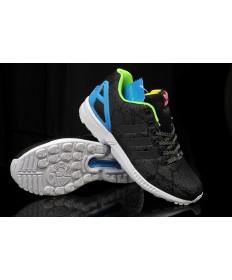 Adidas ZX FLUX Trainersneakers Esche schwarz / blau