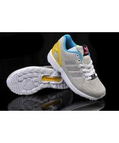 Adidas ZX FLUX sneakers grau / weiß / gelb / blau