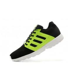 Adidas ZX FLUX 2.0 Velours Trainer schuhe schwarz / fluo grünherren