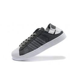 Adidas Superstar Herren Slategray Trainer Breathe