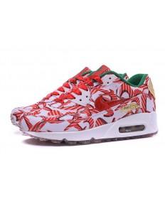 Nike Air Max 90 Spring sneakers sneakers rote Blumen  für damen