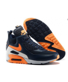 Nike Air Max 90 Hightop schwarz orange Trainerschuhe