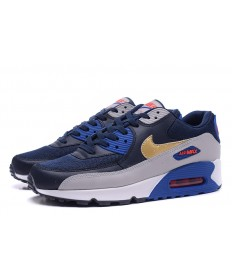 Nike Air Max 90 Essentiale cyan-royal blau-grau-god Trainer schuhe