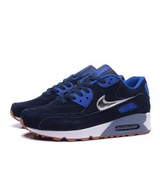 Nike Air Max 90 Midnight blau-royal blau-silberne sneakers