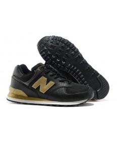 New Balance 574 Herren Schwarz, Gold sneakers