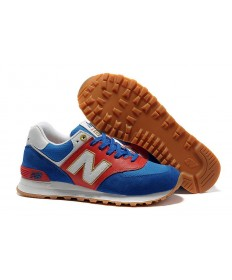 New Balance 574 herren Royal, Rot + Weiß + Gold Trainer schuhe