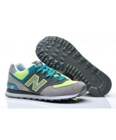 New Balance 574 herren Grau, Volt + Turquoise sneakers Trainer