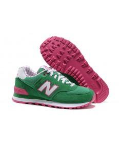 574 New Balance Grün, Weiß + Rosa für sneakers der damen