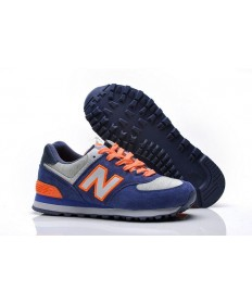 New Balance 574 Blau, Orange sneakers für damen