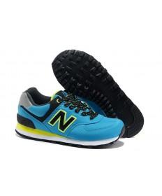 New Balance 574 Türkis mit Schwarz & Neon Grüne sneakers schuhe für damen