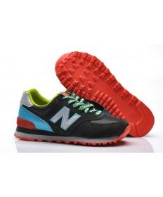 New Balance 574 Schwarz, Silber + Blau Trainersneakers für damen
