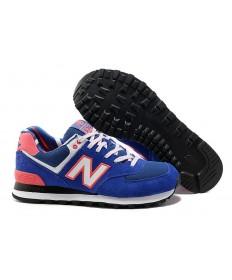 New Balance 574 Blau, Orange + Weiße sneakers für damen