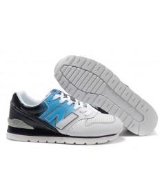 996 New Balance Weiß, Blau + Schwarz schuhe für herren