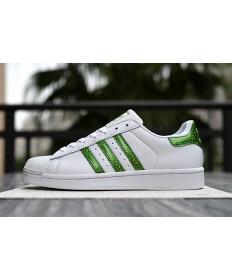 Adidas Superstar 80s Trainer weiß Seagrün