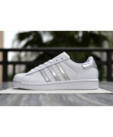 Adidas Superstar 80s Trainer sneakers weiß silber