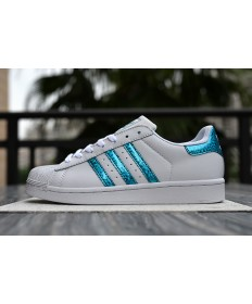 Adidas Superstar 80s sneakers weiß blau