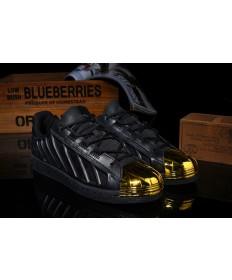 Adidas Superstar schuhe schwarz / gold