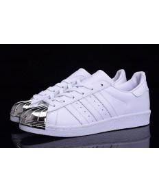 Adidas Superstar 80er Metal Toe weiß / silber-Trainer-schuhe