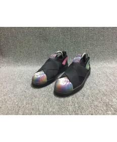 Adidas Superstar SLIP AUF schwarz / Regenbogenfarbe schuhe