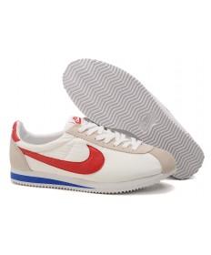 Nike Classic Cortez Nylon Herren-Weiß Beige Blau Rot Trainer