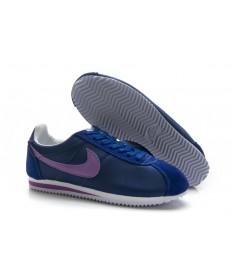 Nike Classic Cortez Nylon Trainer sneakers Marine Lila für damen