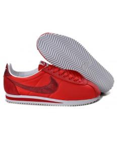 Nike Classic Cortez Nylon sneakers rot Einzigartige für damen