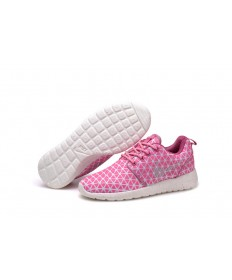 Nike Roshe Run Triangles Rosa / Weiß Trainersneakers für damen