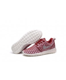 Nike Roshe Run Triangles Dunkelrot / weiß für damen Trainersneakers