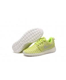 Nike Roshe Run Triangles Fluorescent gelb / weiß für damen sneakers