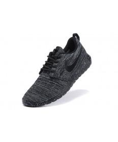 Nike Roshe Run Flyknit für Herren-schwarz / dunkel schiefergrau schuhe Trainer