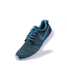 Nike Roshe Run Flyknit für Herren-Deep-Sky blau / schwarz Trainersneakers