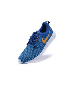 Nike Roshe Run Flyknit für Herren-Dodger blau / orange / Sky blaue sneakers