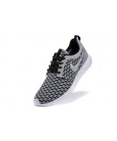 Nike Roshe Run Flyknit für Herren-Grau / Schwarz Trainer