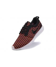 Nike Roshe Run Flyknit für Herren-Tomate / Schwarze schuhe