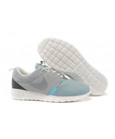 Nike Roshe Run NM BR 3M Grau Basis / Weiß Segel / Eis-Blau-schuhe für Herren