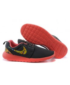 Nike Roshe Run Trainer schuhe Lovers Schwarz / Gelb / Orange