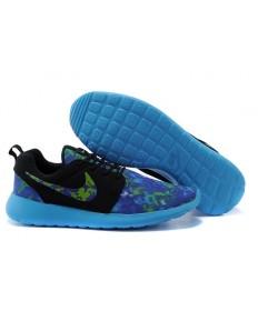 Nike Roshe Run schuhe Lovers Schwarz / Royal Blau / Hellhimmelblau