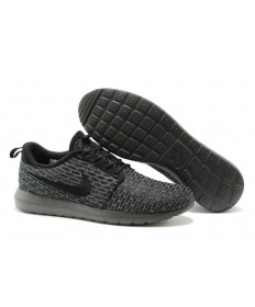 Nike Flyknit Roshe Run herren All schwarz / Dim grau sneakers Trainer