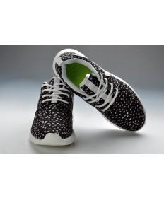 Nike Roshe Run damen Schwarz / Blumen druck / weiße sneakers schuhe