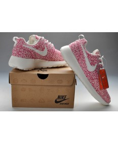Nike Roshe Run Rosa / Weiß damen Trainersneakers