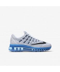 Nike Air Max 2016 Trainer schuhe Weiß / Foto blau / Pure Platinum / Schwarz