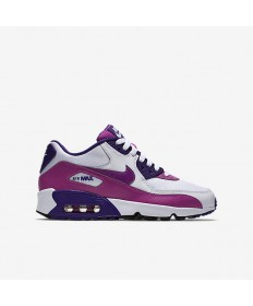 Nike Air Max 90 Mesh-Trainer sneakers Weiß / Court Lila / Schwarz / Hyper Violet