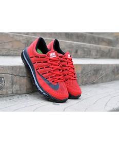 Nike Air Max 2016 Rot / schwarzherren Trainer schuhe