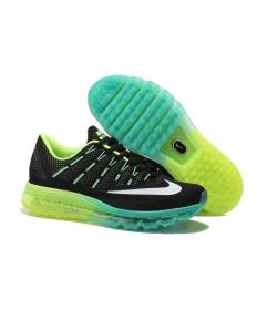 Nike Air Max 2016 schwarze / Fluorescent Grün / Weiß / Cyan Trainer für Herren