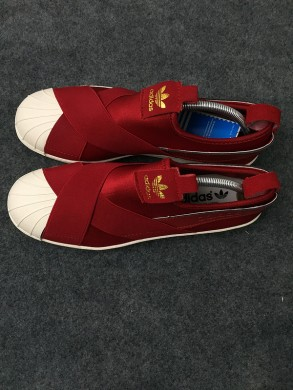 Adidas Superstar SLIP ON rot / beige sneakers